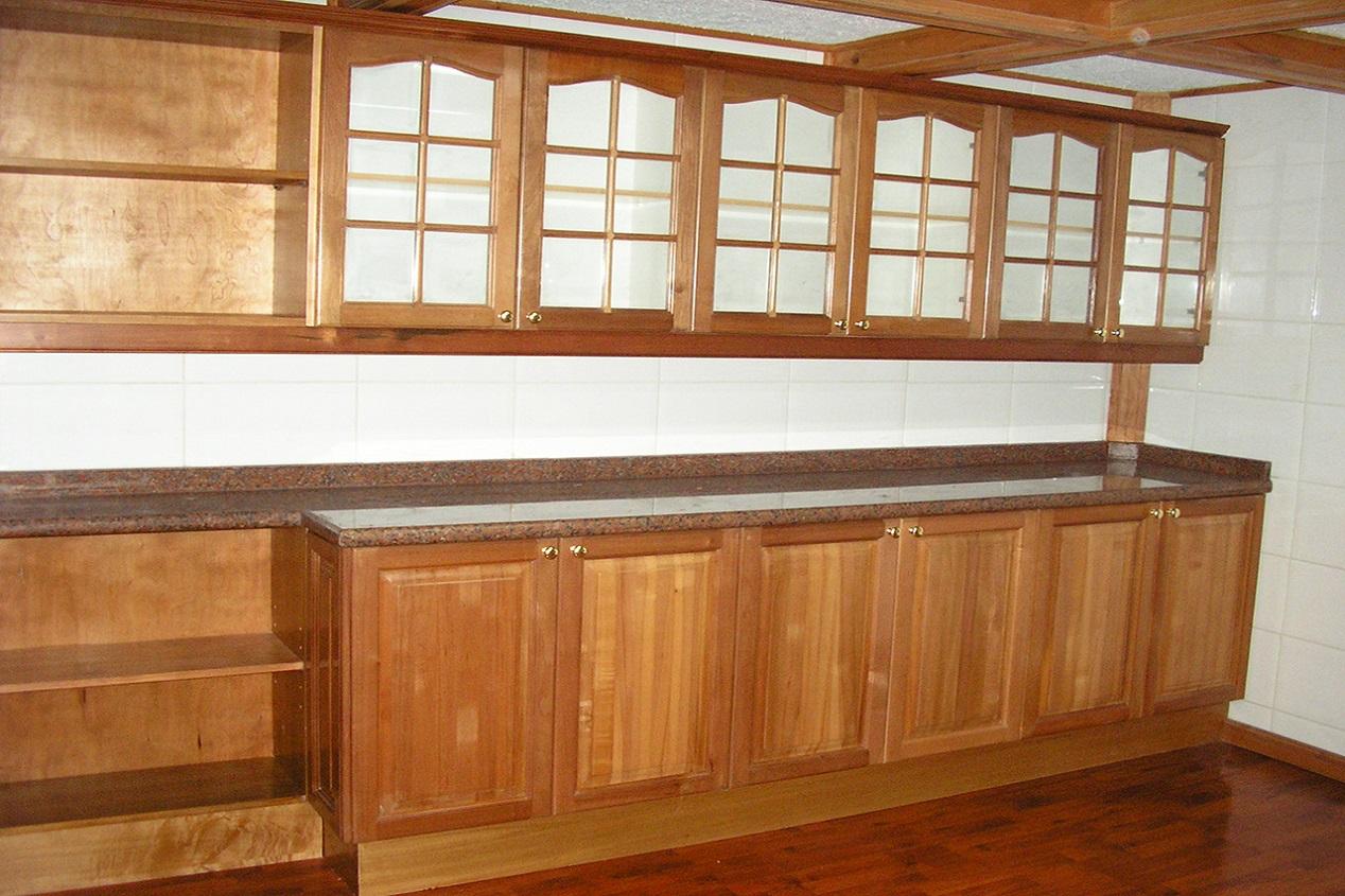 Muebles De Cocina Cubierta Granito Puertas Madera S Lida # Muebles De Cocina De Madera