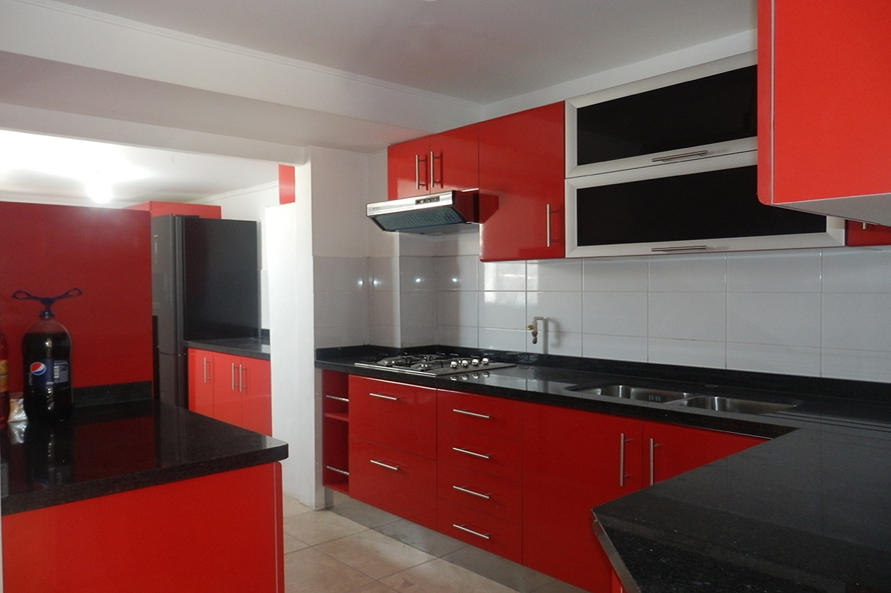Maver muebles de cocina modernos y a medida 56222557377 for Red kitchen designs photo gallery